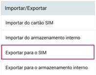 Exportar para o SIM