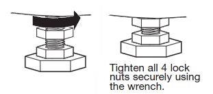 Tighten Washer Locknut
