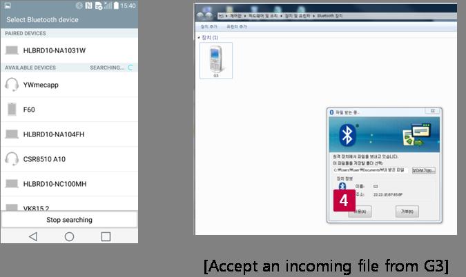Bluetooth PC to G3