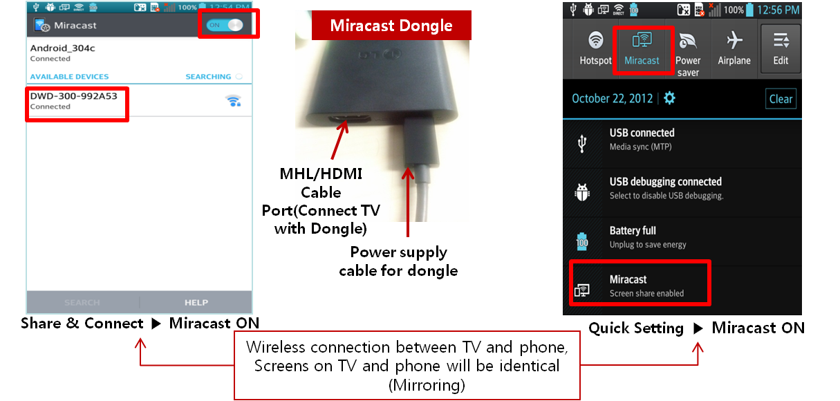 how to setup miracast