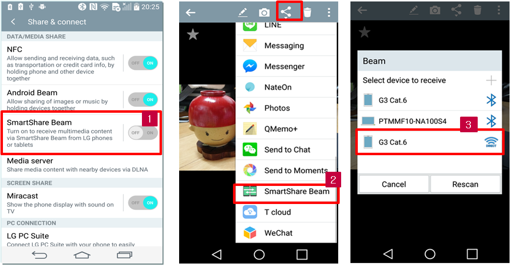 how to setup smartshare beam