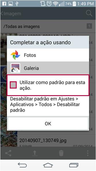 """Para evitar que ocorra novamente o problema, não se esqueça de DESABILITAR a opção """"Utilizar como padrão para esta ação"""" quando for utilizar um aplicativo."""