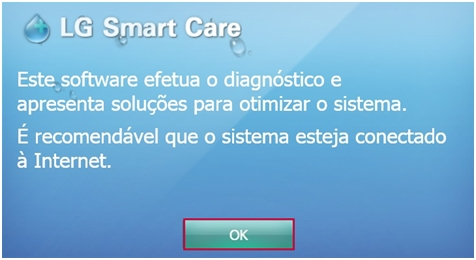 Tela Inicial do LG Smart Care