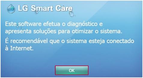 Tela Inicial do LG Smart Care