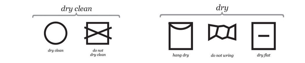 clothing care tag