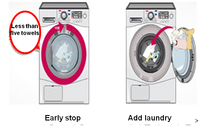early stop, add more laundry