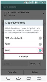 Atribua o SIM Card