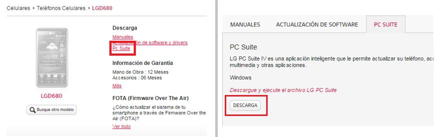 PC Suite - Descarga