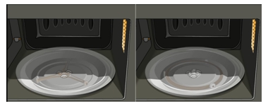Place a cooking tray or a plastic drive bushing in the right position.