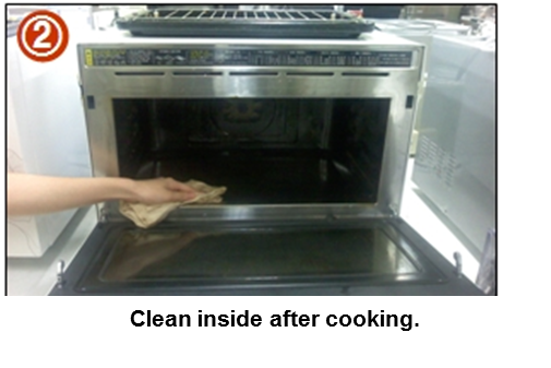 Clean inside after cooking