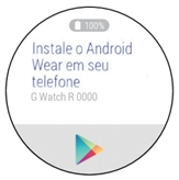 Instale o Android Wear