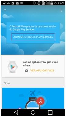 Atualize o Google Play Services