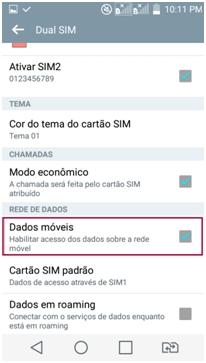 Dados móveis