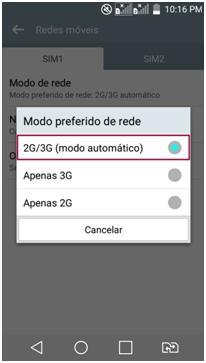 2G/3G - Modo automático