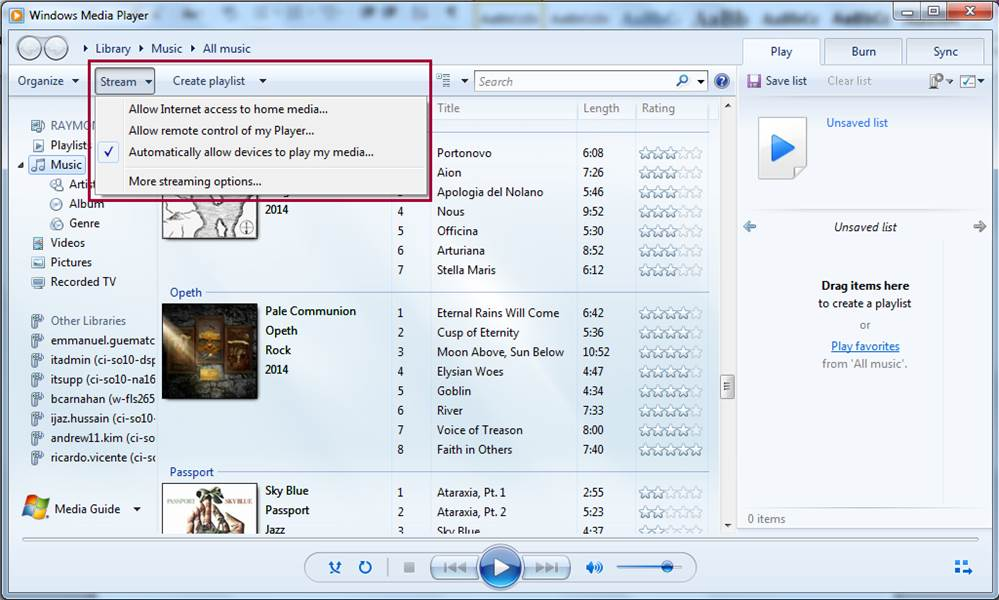 LG Help Library: Streaming from Windows Media Player Library