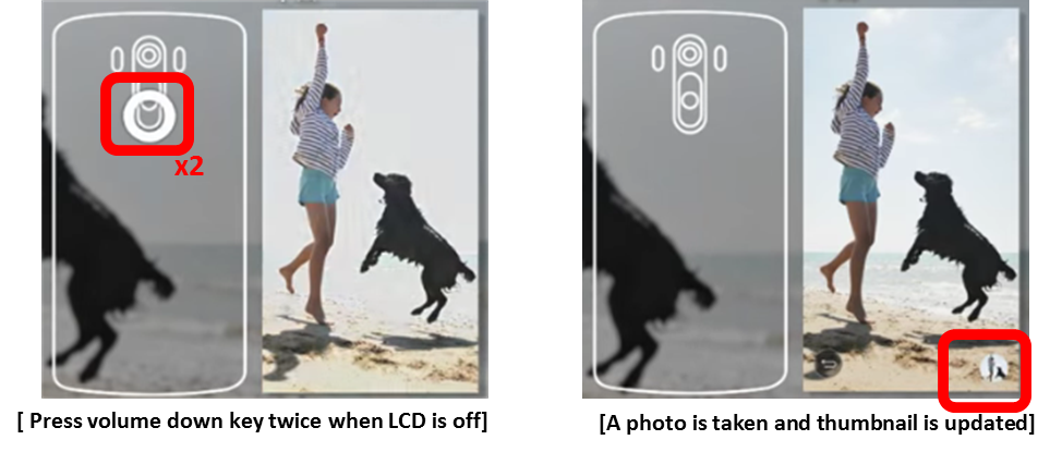 take a photo instantly.