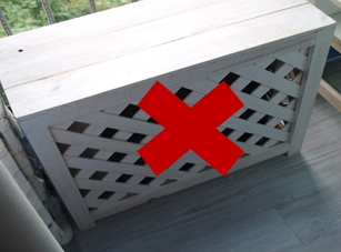 Do not put a cover on the outdoor unit