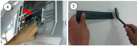 How to clean the TVF and the triple filter in the Art Cool air conditioner