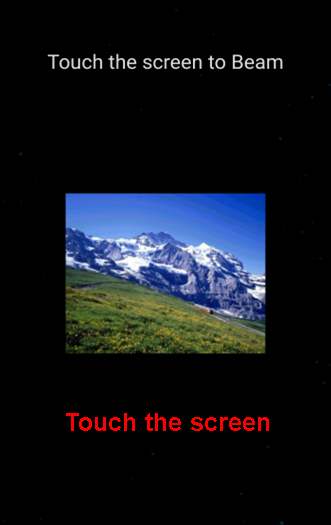 touch the screen