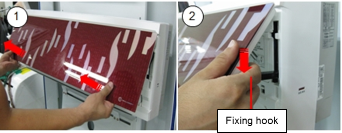 How to clean the air filter in a wall mounted ac