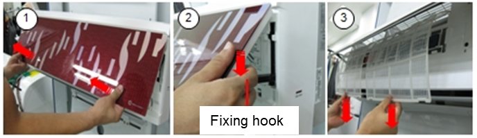 How to clean the Total Virus Filter and the triple filter in the wall-mounted air conditioner