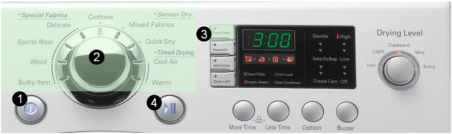 Help Library What Does The Time Delay Button Do On My Lg Washer Dryer Lg U K