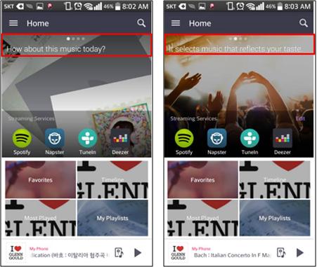 Se recomendará canciones al azar en un dispositivo Smart. Recomendará las canciones de los artistas y álbumes del género seleccionado por el usuario.