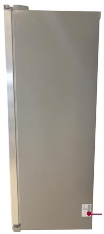 parte lateral do refrigerador