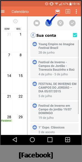 adicione eventos do Facebook