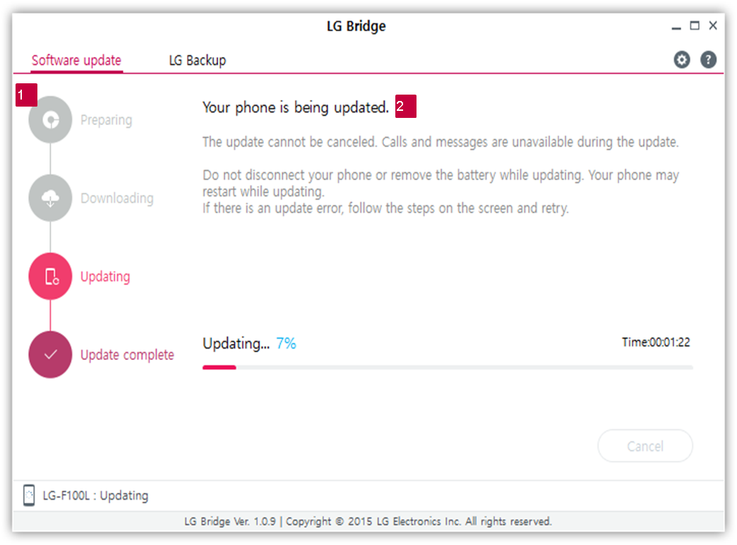 LG How-to & Tips: [LG Bridge] How Can I Update Software of My Mobile