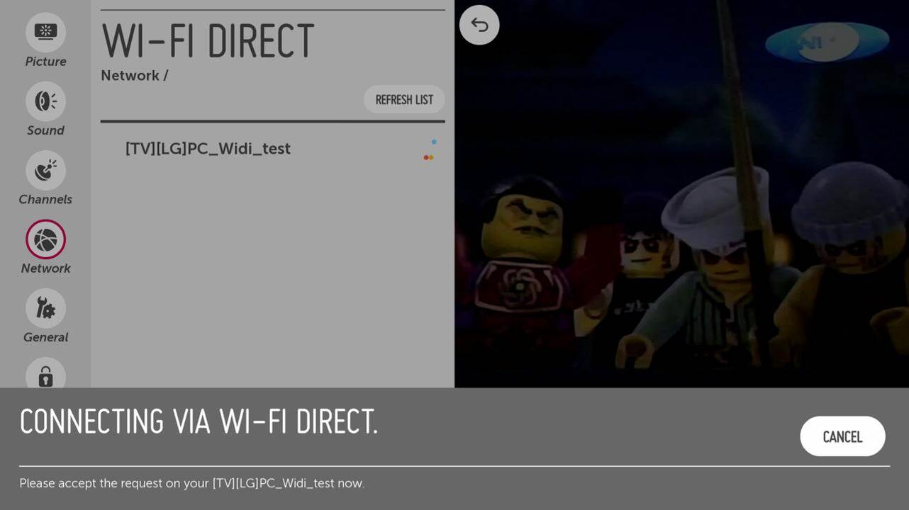 LG Help Library: [LG webOS TV] – WiFi Direct feature | LG Canada