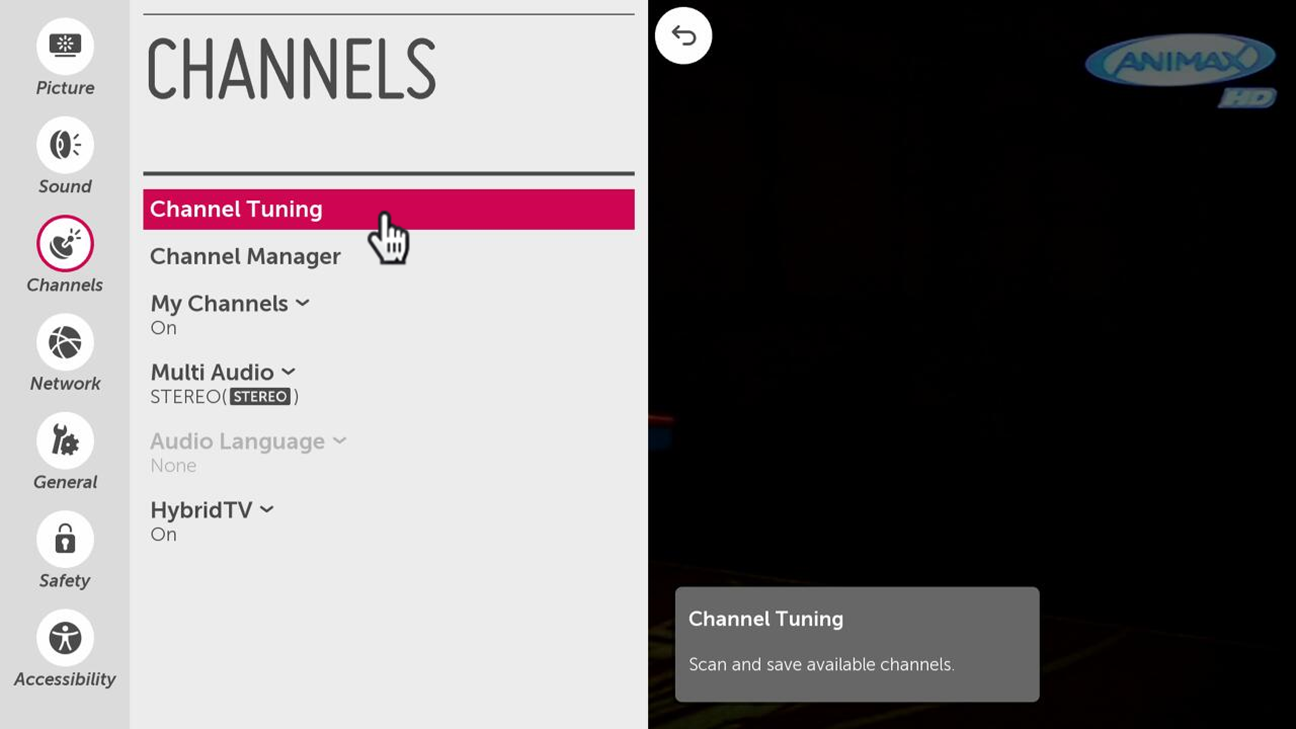 LG How-to & Tips: Channel/Programme Tuning on your LG webOS