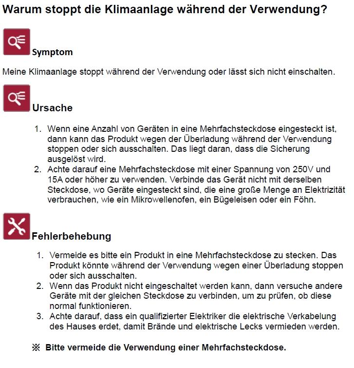LG FAQ`s: Warum stoppt die Klimaanlage während der Verwendung? | LG ...