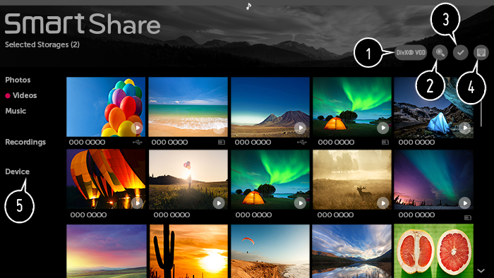 Select Video on SmartShare