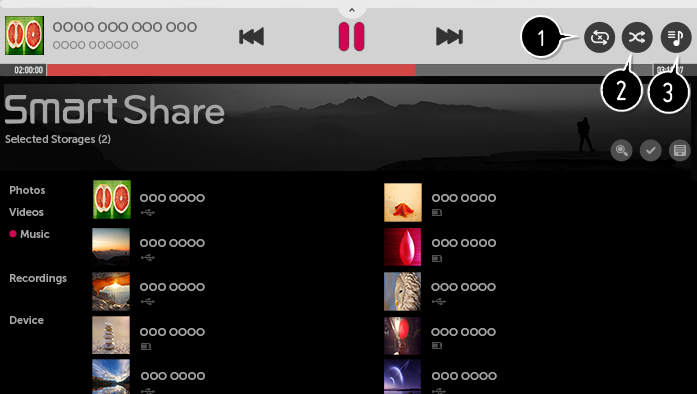 Play Music on SmartShare