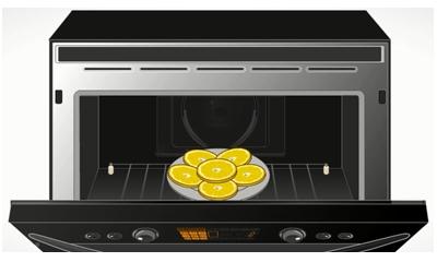 Imagen de un horno con limones