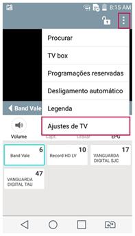 ajustes de TV