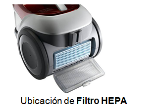 Ubicación de Filtro HEPA